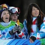 Equipe de france de snowboard à l'entrainement et en qualification